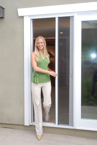 Cornerstone replacement experts retractable door screens for Pull down retractable screen door