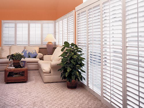 Cornerstone Windows - beautiful home custom living room shutters