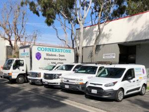 Cornerstone Windows Patio Doors - Torrance CA - Truck Fleet