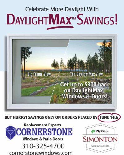 Cornerstone Windows Spring Sales - Simonton rebate