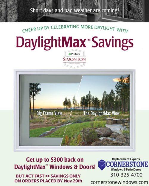 Cornerstone Windows Patio Doors - Fall Discount Offer - Rebate from Simonton Windows Doors